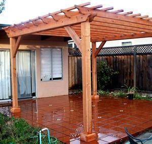Pergolas de madera - Techos para pergolas de madera ...